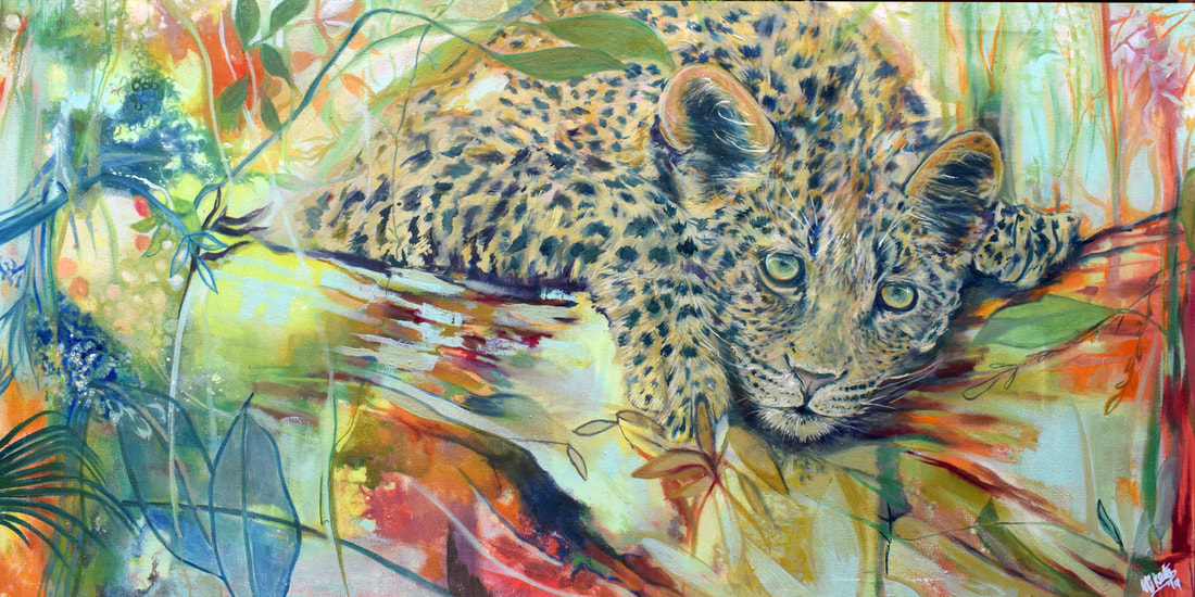 baby leopard painting