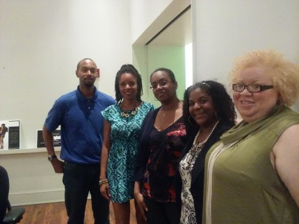 (Left to right) Leonard Young of Delaware Black, Erica Gordon, Nike Binger Marshall, Porsha Hargrove, and Sara Crawford