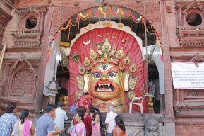"""Image of Sveta Bhairava (""""White Bhairava"""") in Nepal"""