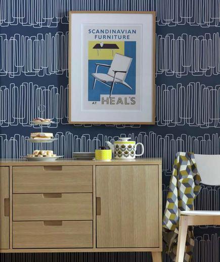 24 Contoh Desain Wallpaper Dinding yang Cantik - Bold - Best Home Wallpaper Design
