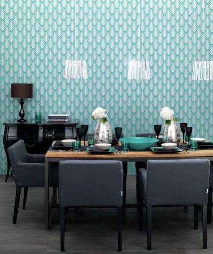 24 Contoh Desain Wallpaper Dinding yang Cantik - Energetic - Best Home Wallpaper Design