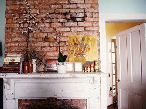 Gambar Batu Bata Desain Interior Modern dan Klasik - Tembok Batu Bata - Interior Desain Kamar Rumah 15