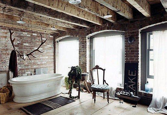 Gambar Batu Bata Desain Interior Modern dan Klasik - Tembok Batu Bata - Interior Desain Kamar Rumah 27