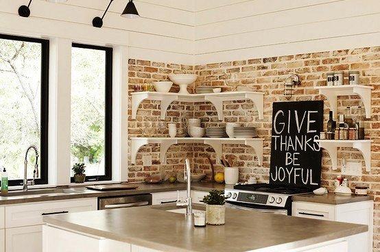 Gambar Batu Bata Desain Interior Modern dan Klasik - Tembok Batu Bata - Interior Desain Kamar Rumah 35