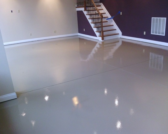 Kontraktor Pelapisan Epoxy Coating Proyek Lantai Gedung - Epoxy Coated Floor modern basement