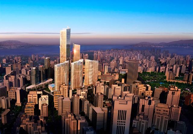 Gedung Tinggi Baru di Dunia Tahun 2015 - Eton-Place-Dalian 1