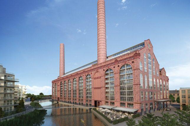 Stasiun pembangkit listrik yang direklamasi dengan baik