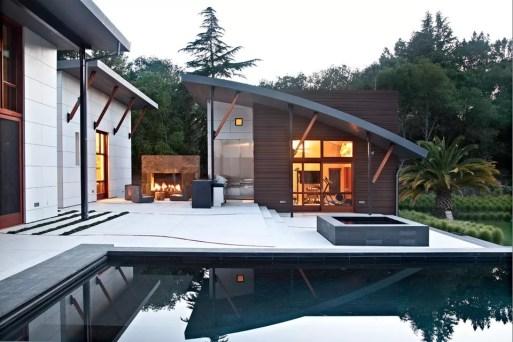 Contoh Teras Beton dengan Desain yang Indah