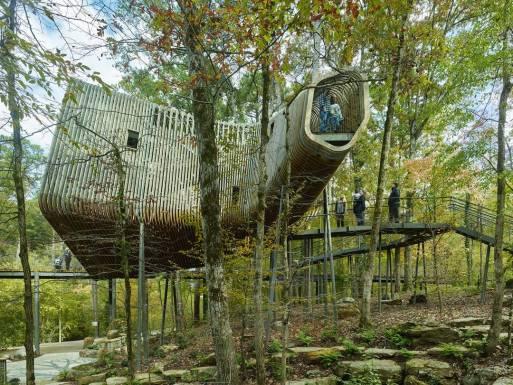 Desain Rumah Unik di Hutan