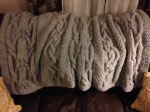 Cables Blanket Gray