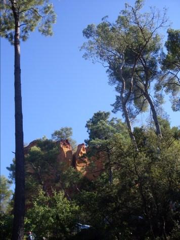 Roussillon Ockerfelsen
