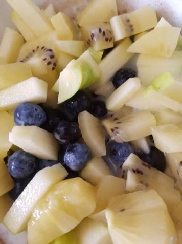 Kiwi-Apfel-Blaubeeren