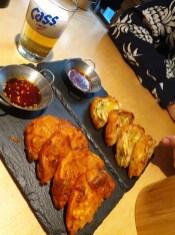 Kimchi und Zucchine Pfannkuchen