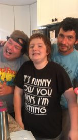 My brothers (Ronnie and Bryan) and my oldest Sebastian