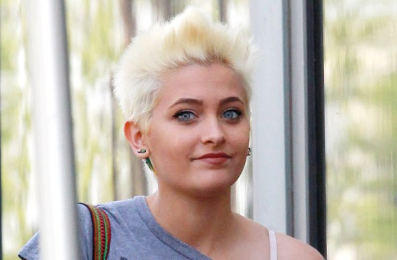 Paris Jackson gets an iced coffee at Starbucks in Sherman Oaks