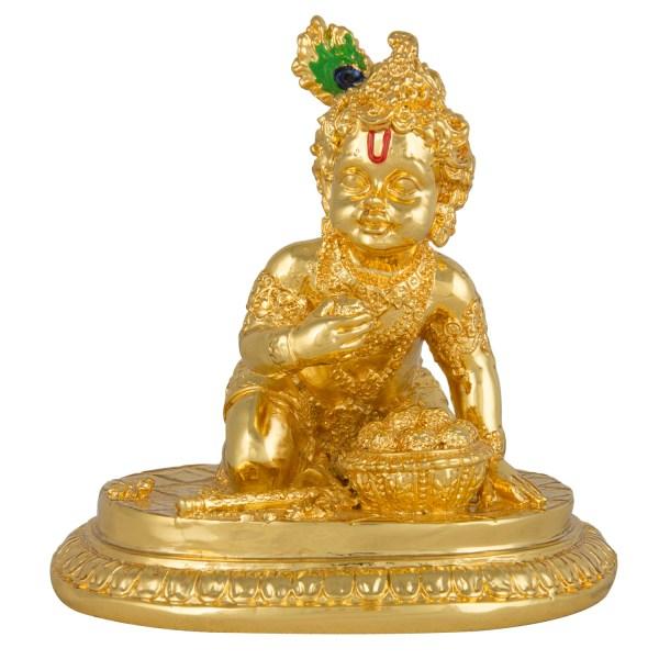 Gold Laddu Gopal Idol