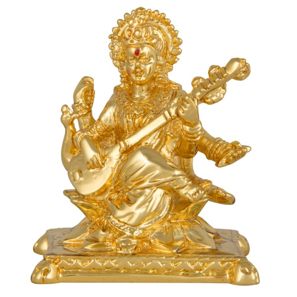 Gold Saraswati Idol