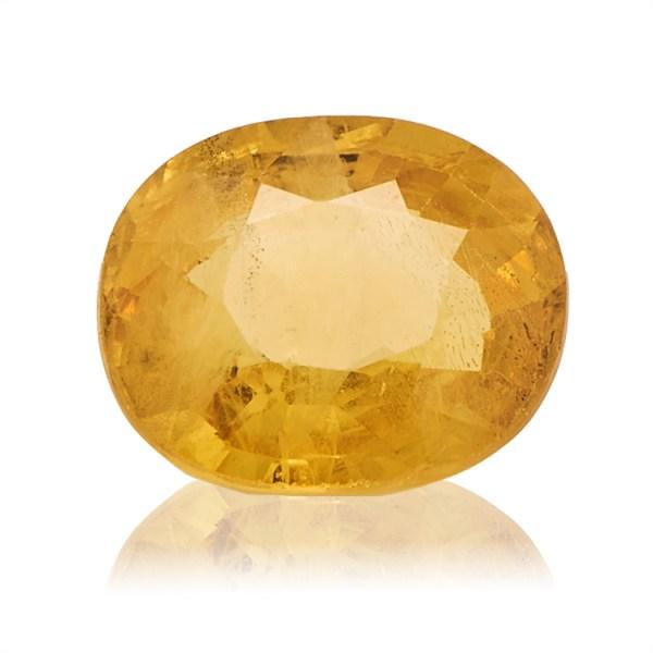 Yellow Sapphire (Pukhraj) -  3.35 carat from Bangkok