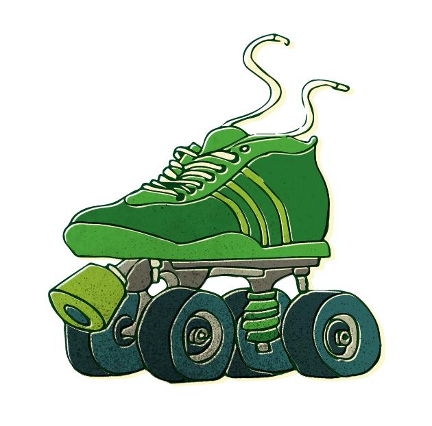 SkateScool, Rollerskate Illustration