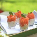 Amuse met frisse meloen