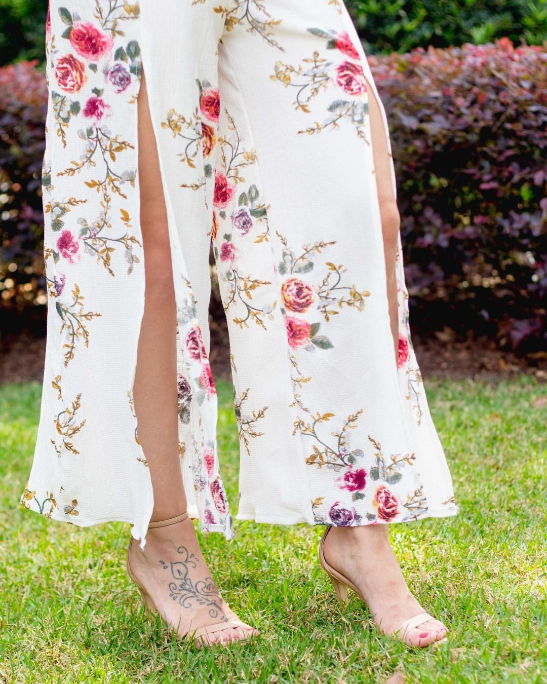 Shein Floral Jumpsuit