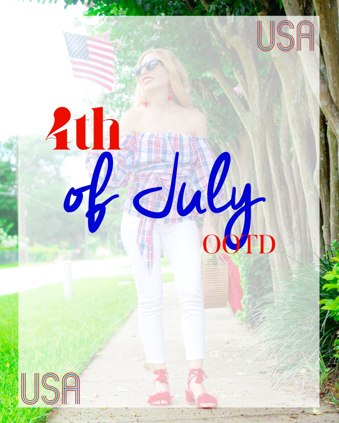 4TH OF JULY OOTD RED WHITE BLUE