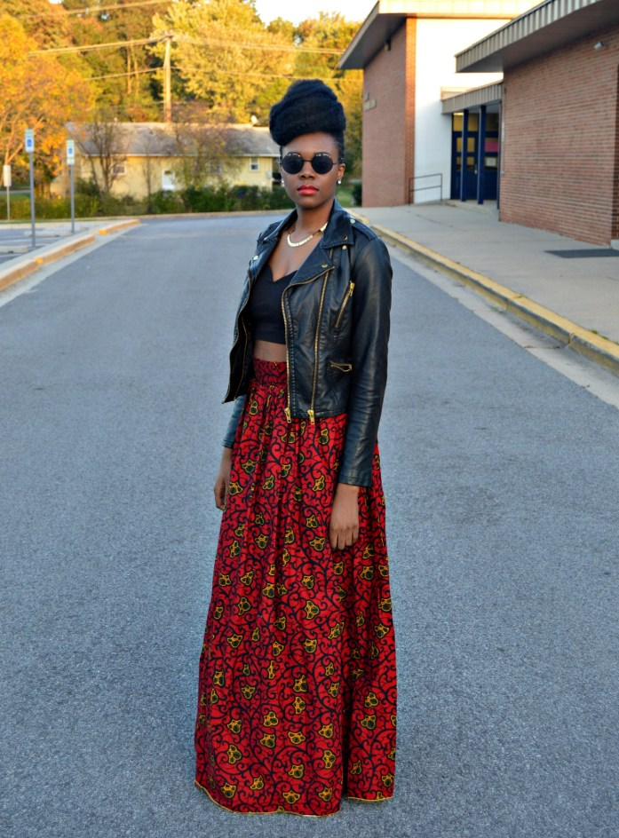 leather-ankara-black-forever-21-leather-jacket-black-croptop-and-red-puksies-wardrobe-aymone-maxi-skirt-for-all-things-ankara-fashion-week-2014-day-1-3