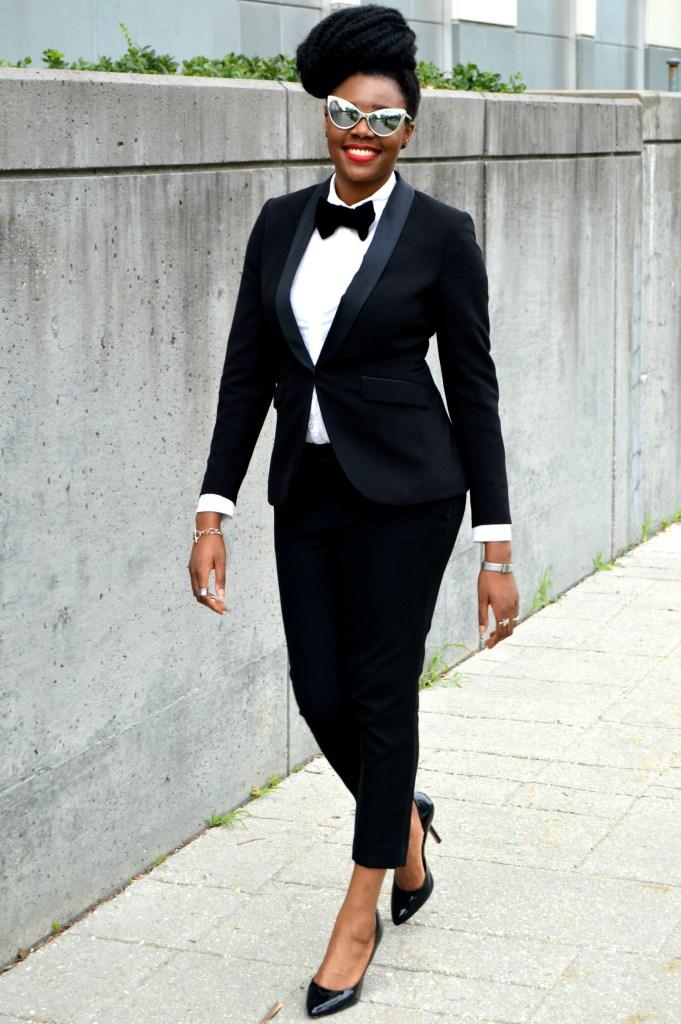 Nikki Billie Jean's H&M Tuxedo Jacket & Pants 3