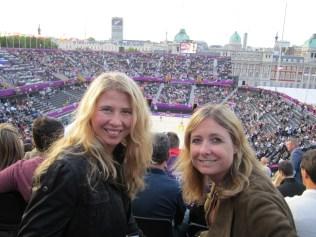 Marijana and I at beach volleyball