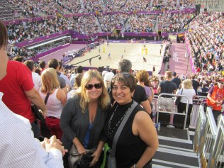 Amee and I at beach volleyball