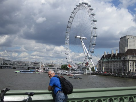 Peter in front of The Eye