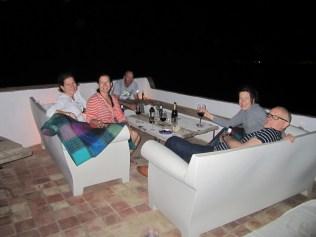 The evening deck
