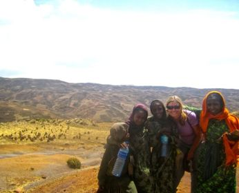 Village girls home from school