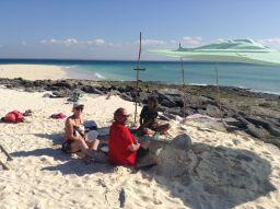 Desert island picnic