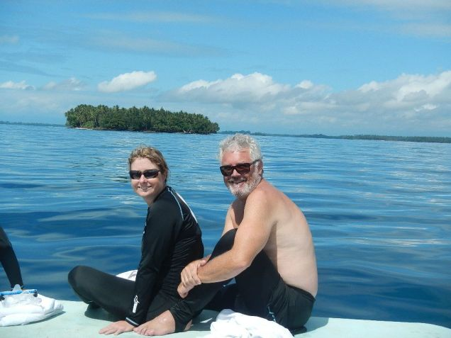 With Peter on the dive boat