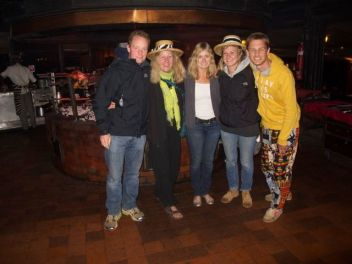 The Wildebeest Gang at Carnivore - a famous Nairobi restauarnt