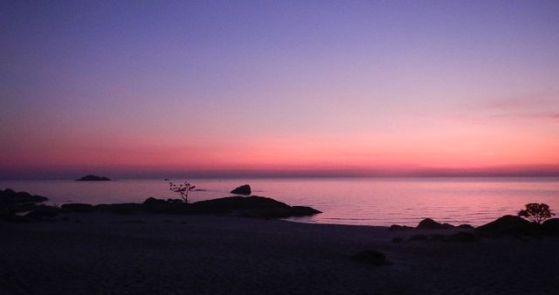 Sunrise at Lake Malawi