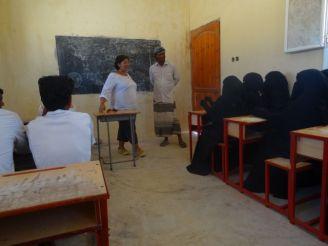 Teaching English to a class