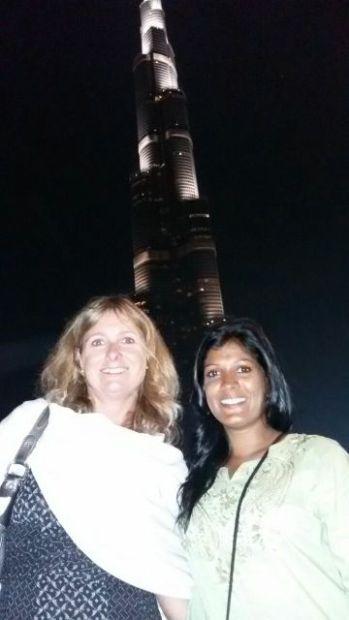 With Sandra in Dubai