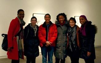 Laylah Ali with me, Jenny Harris, Alex Barnes, Cabelle Ahn & Jda Gayle. Dartmouth College. February 2012.