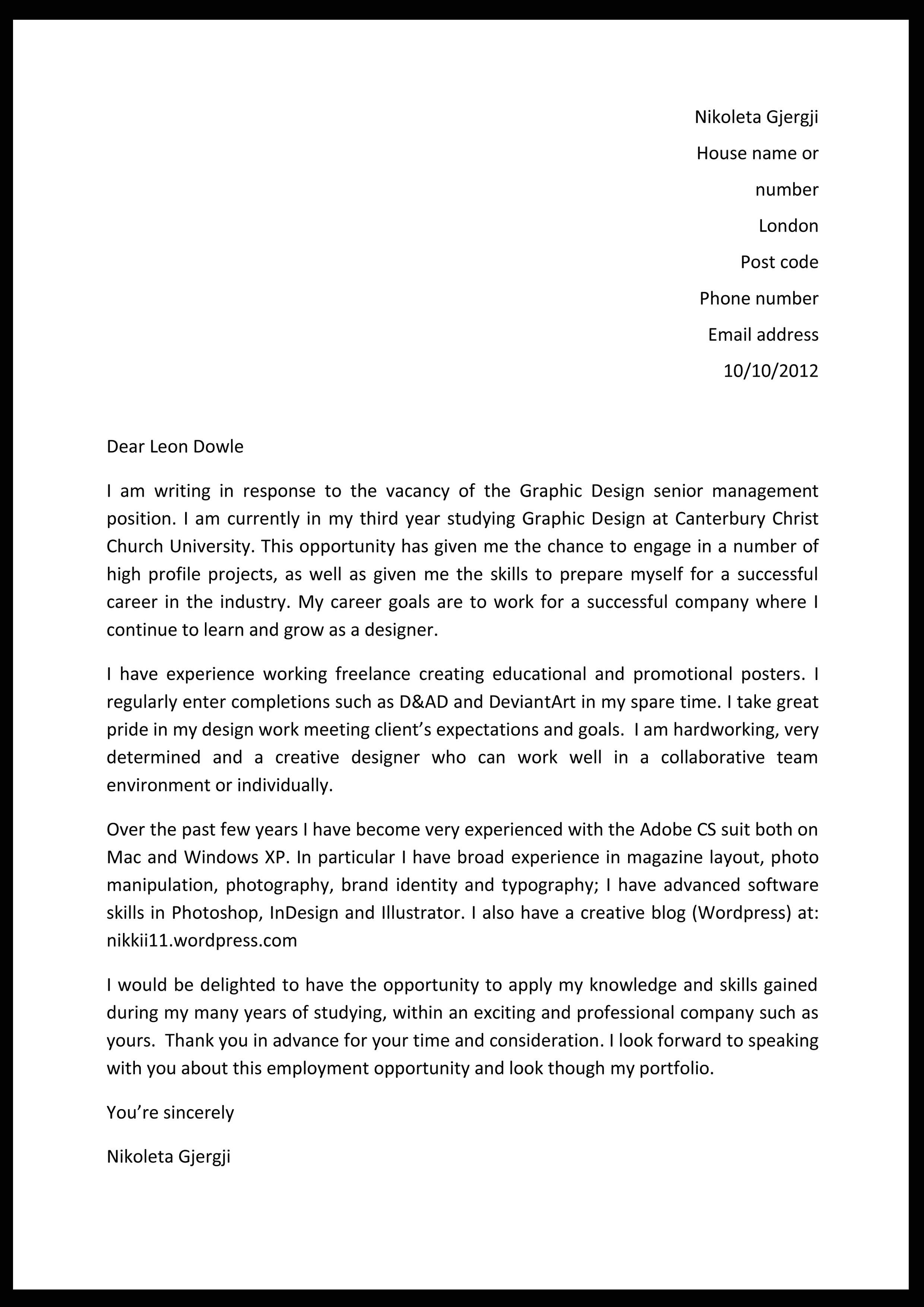 Cover Letter Update Nikoleta Marina G