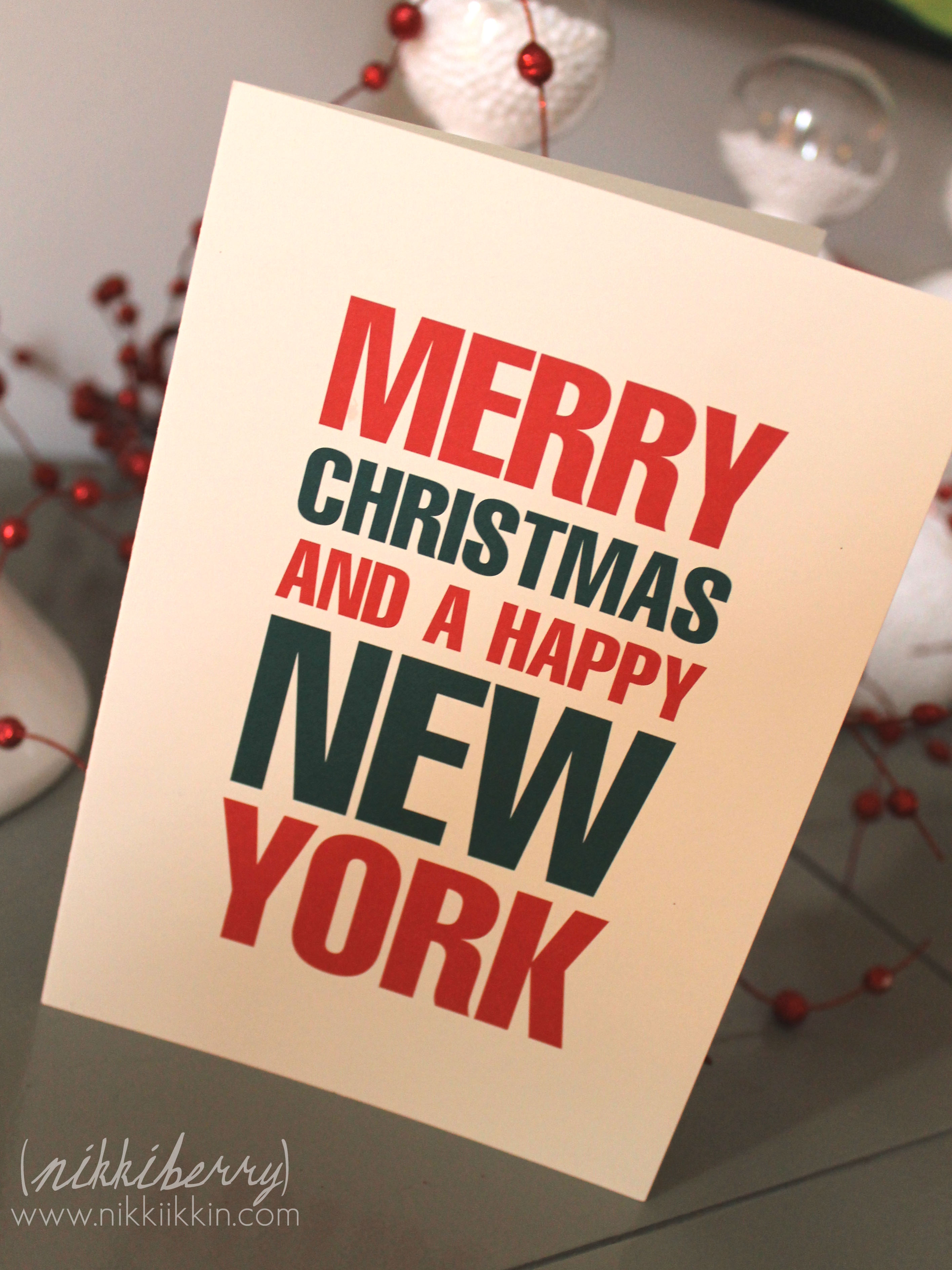 Merry Christmas And A Happy New York
