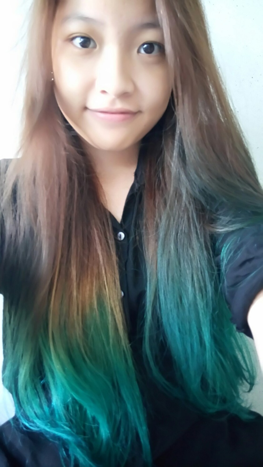 DIY Turquoise Ombre Hair  ESCAPLACE