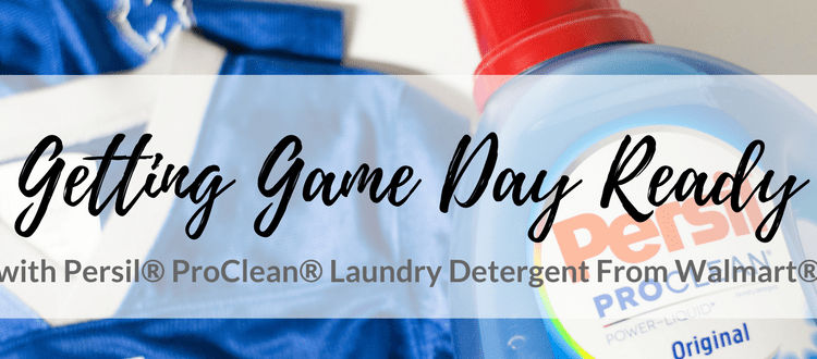 Getting Game Day Ready with Persil® ProClean® Laundry Detergent From Walmart®