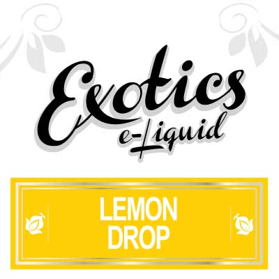 Lemon Drop e-Liquid, Exotics, eJuice, Fruit, Vape, Vaping, eCig