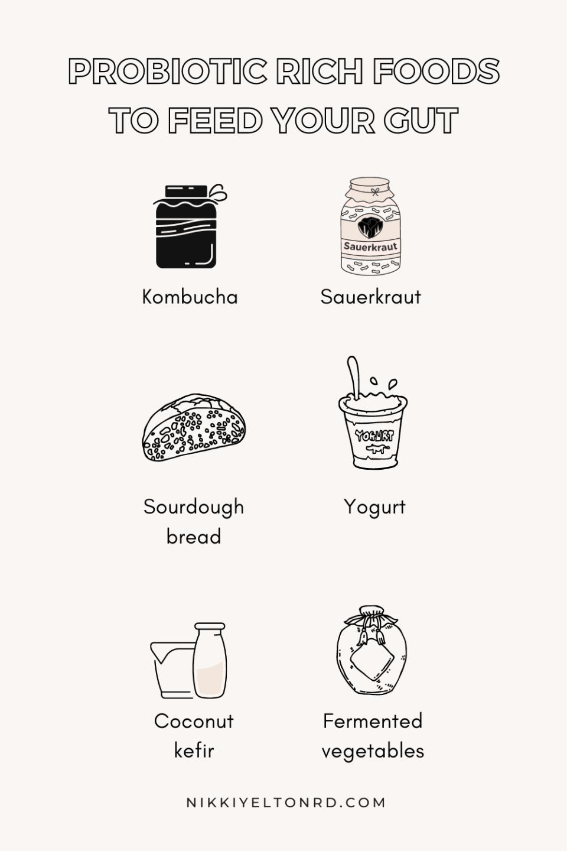 Probiotic foods to heal your gut like kombucha and sauerkraut