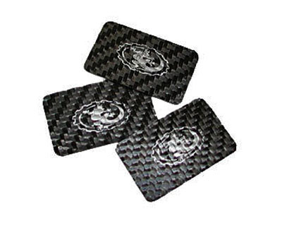 Carbon Leather Frame Patches