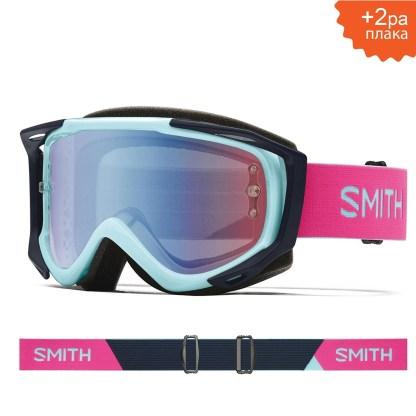 SMITH Fuel V2 Iceberg Peony S2 Blue Sensor Mirror