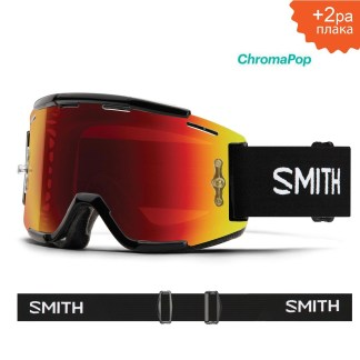 SMITH Squad mtb black s2 chromapop everyday red mirror