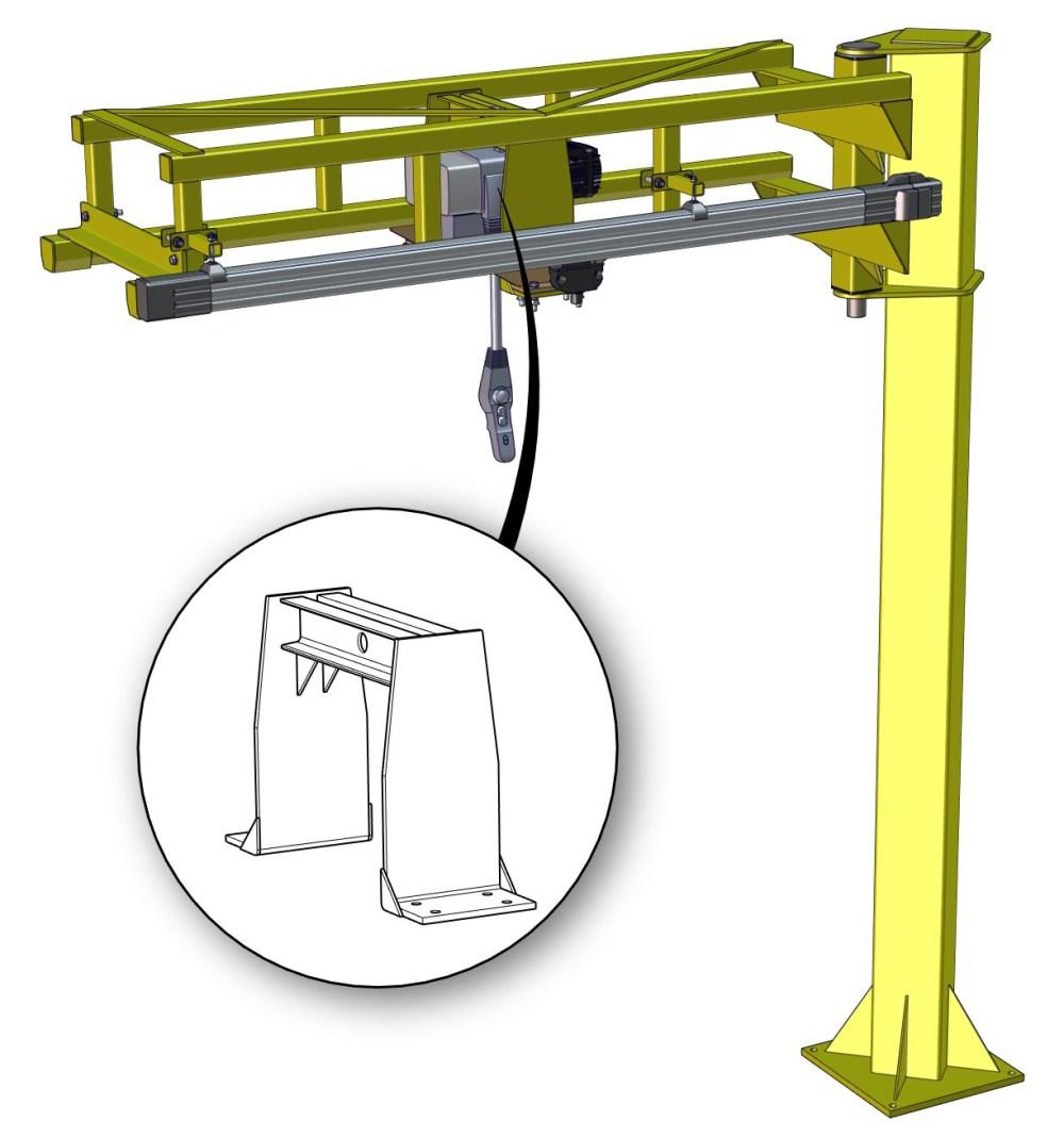 medium resolution of ultra low headroom jib cranes